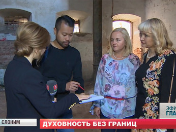 Slonim Steering Committee architect interviewed for Belarusian TV