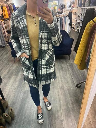 Grey Plaid Charlie B Jacket