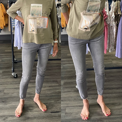 Esprit  grey skinny jeans with distressing