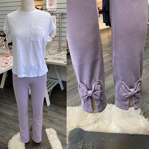 Charlie B purple bow pants