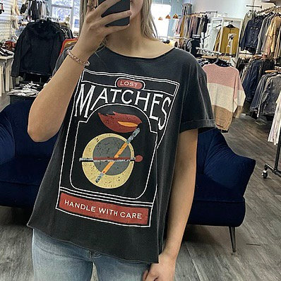 Lost matches vintage tee