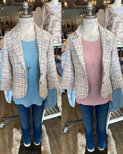 Charlie B pastel tweed jacket
