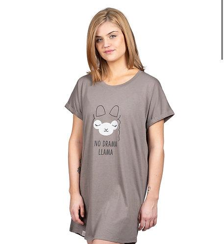 """""""No drama llama"""" sleep shirt"""