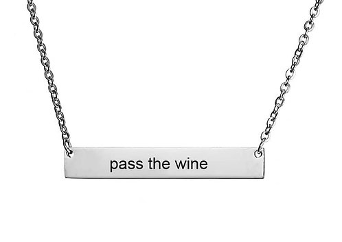 Pass the wine necklace- silver