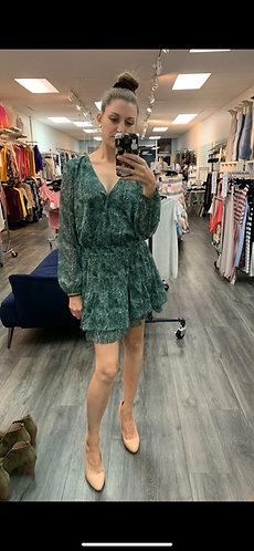 green speckled dress