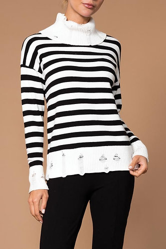 Elena Wang Stripe Turtle Neck