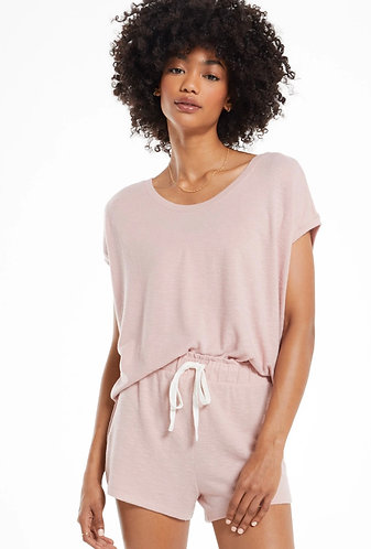 z supply soft pink sweater tee
