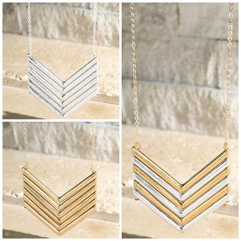 Chevron long necklaces