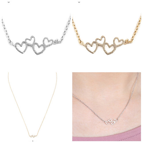 4 heart necklace