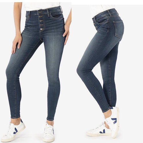 Kut mia high rise skinny with button up