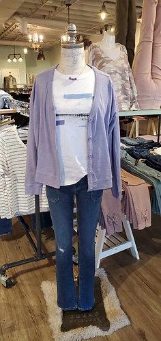 Esprit lilac button up cardi