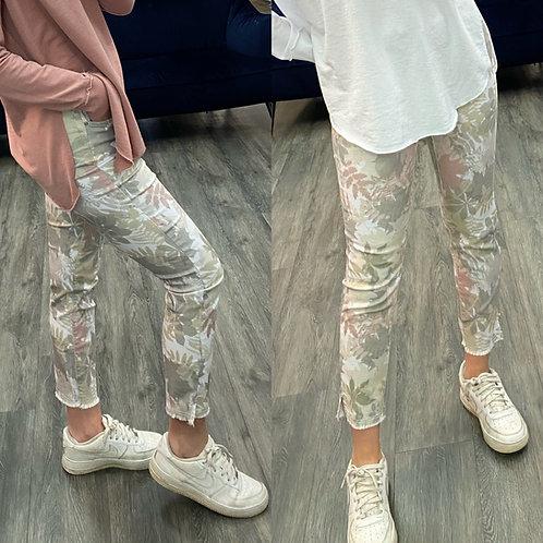 Charlie B floral pants