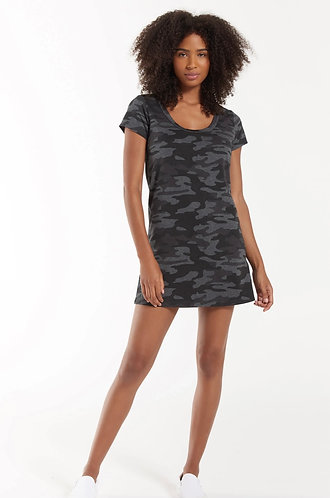 Z supply grey camo t shirt dress
