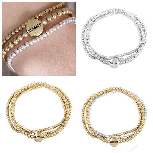 Blessed bracelet stack