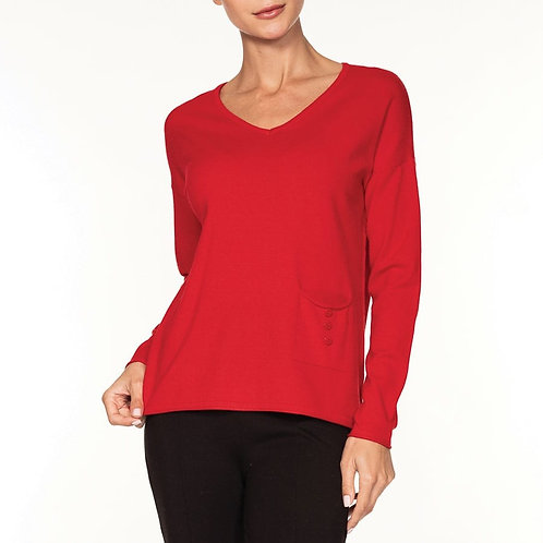 Fine Knit Sweater With Pocket
