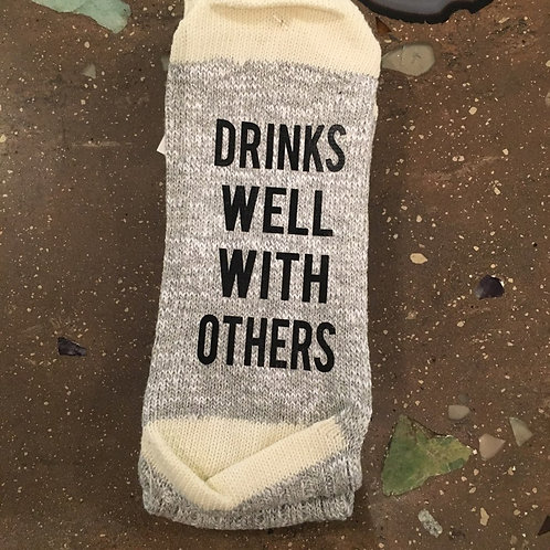 Drinks well with others socks