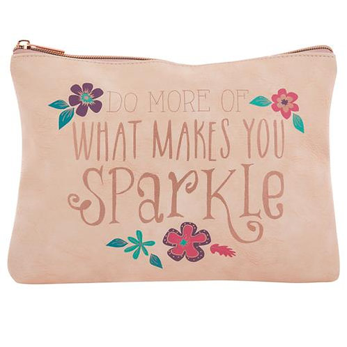 """Do More Of What Makes You Sparkle"" Carry All Pouch"