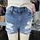 Thumbnail: Sneak peek Mid rise distressed denim shorts