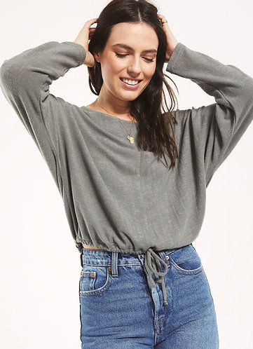 Soft crop sweater