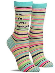 "Womens ""I'm overthinking"" socks"