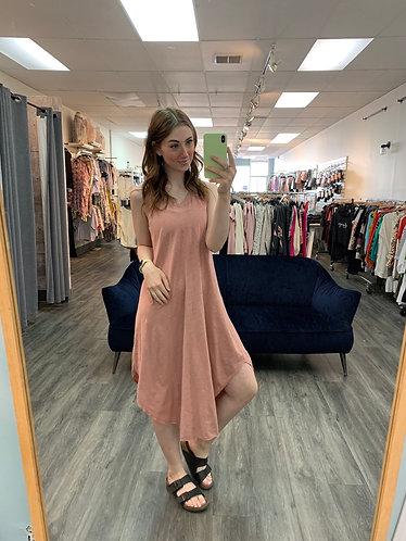 zsupply dusty rose handkerchief dress