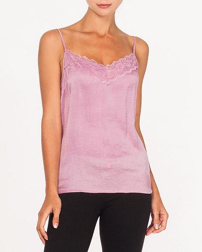 Pink Lily Moss Camisole With Lace