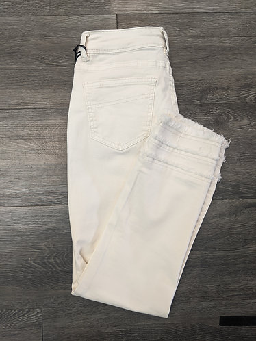 Charlie B Jeans W/ Ruffle Ankle - White