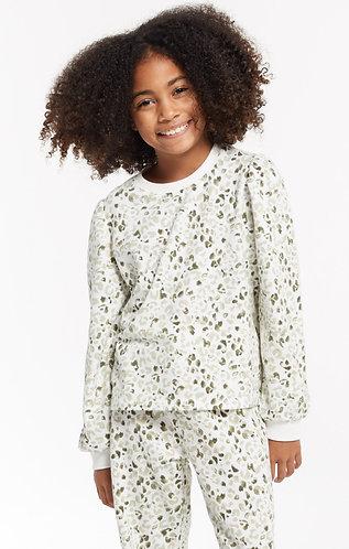 Z supply girls leopard pullover tee
