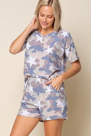 Camo w/ stars pajamas