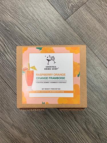 raspberry orange cocktail bombs
