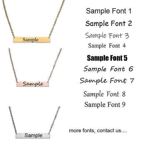 Make your own custom necklace- horizontal