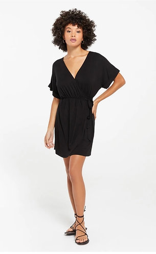 sleek wrap dress