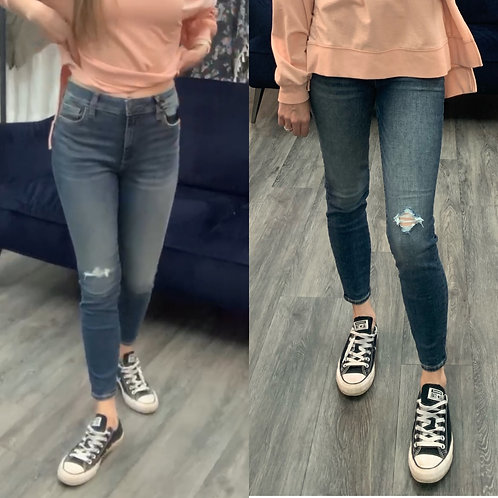 Kut high rise distressed jeans