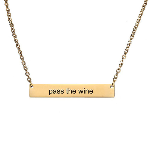 Pass the wine- gold