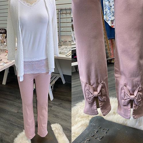 Charlie B pink bow pants