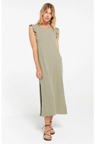 Z supply olive blakely ruffle dress