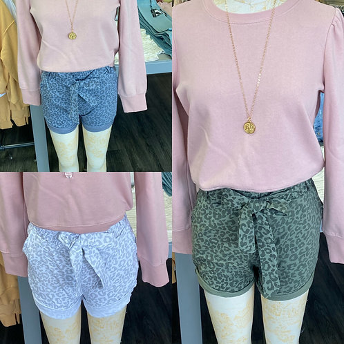 Made in Italy leopard print shorts