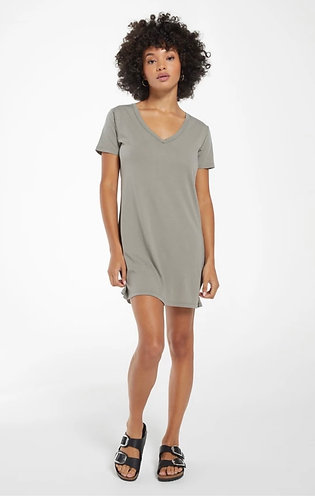 sage green cotton t-shirt dress