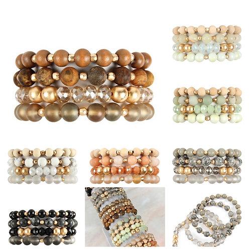 4 stack of bracelets