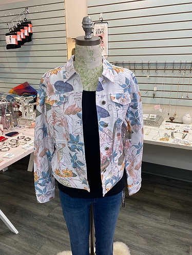 Charlie B Printed twill jacket