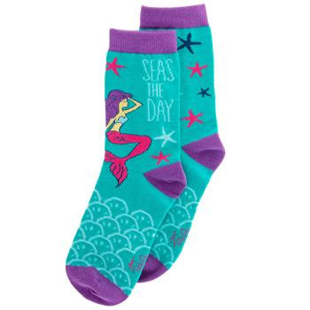 """Seas The Day"" Mermaid Socks By Karma"