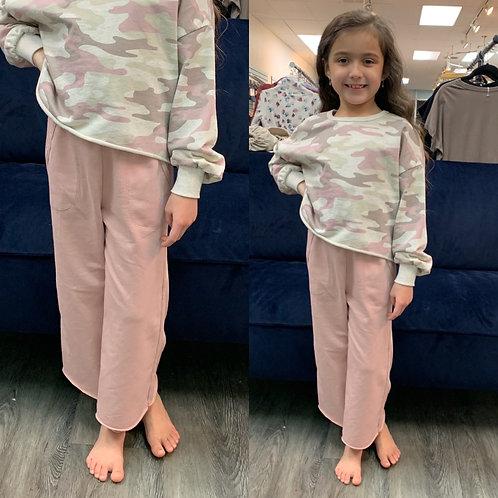 Z supply girls pink crop pants