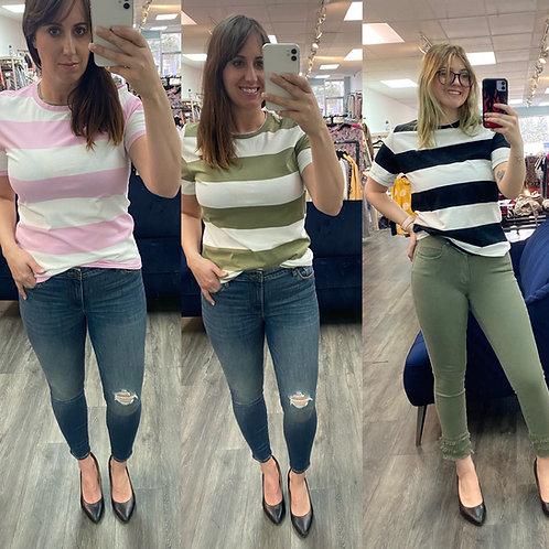 Striped organic cotton t shirt