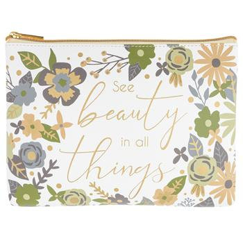 """""""See The Beauty In All Things"""" Carry All Pouch"""