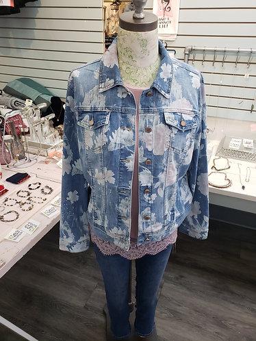 Charlie B printed jean jacket