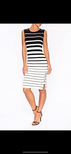 Striped Elena Wang Dress