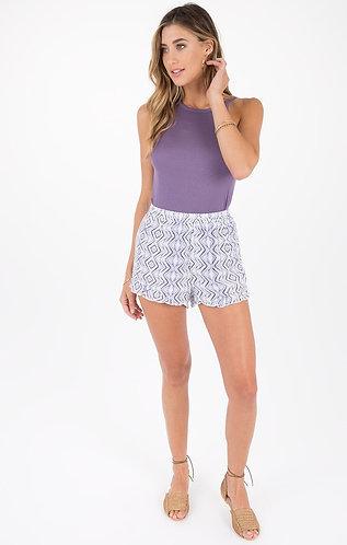 Lilac Flowy Shorts