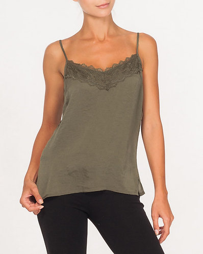 Green Lily Moss Camisole With Lace