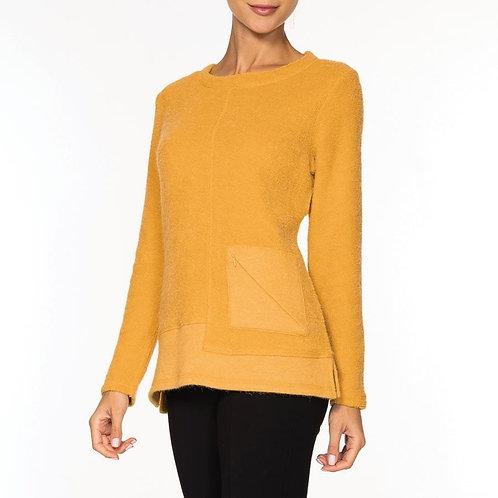 Alison Sheri Sweater With Zipper Detail