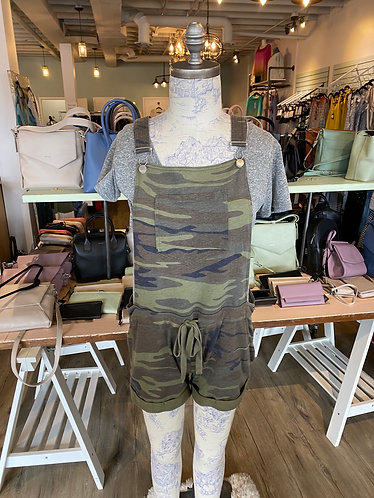 Z supply camo green overalls